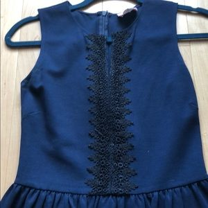 Navy and Black cocktail dress